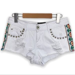 Parisian White Embroidered Shorts (girls)